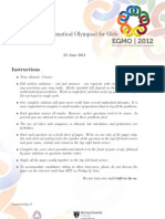 UK Mathematical Olympiad for Girls (24 June 2011)