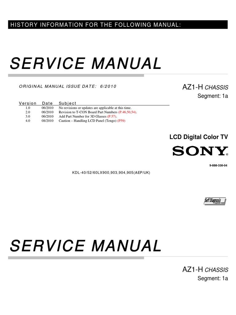 service repair manual for sony kdl 52lx900 rh es scribd com Training Manual Cover Training Guide