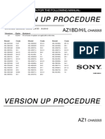 Software Manual for Sony KDL-52LX900 (Version Up Procedure)