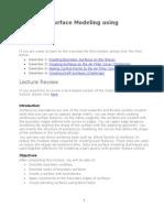 ProE Surfacing - Module 5