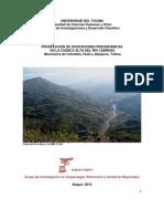 INFORME - Prospección de Ocupaciones Prehispánicas - Alto Río Cabrera, Tolima_2010