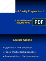 Lecture 3, Principles of Cavity Preparation I