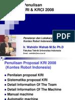 Pedoman Penulisan Proposal KRI2008 (Wahidin W.)