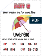 Short u Anchor Chart
