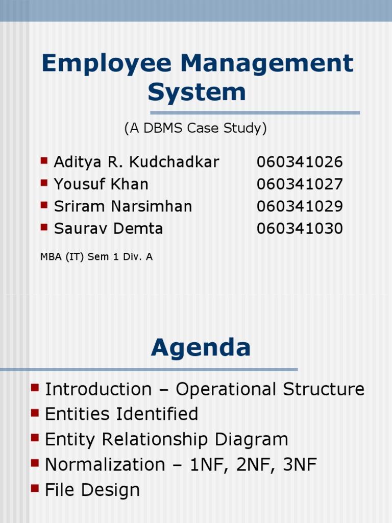 Erd Employee Management System