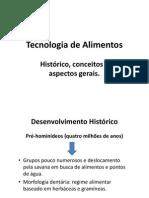 Tecnologia de Alimentos - Histórico