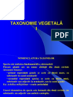 TAXONOMIE VEGETALA I