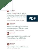 Recent Tweets, Oct 2011