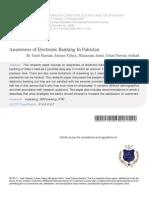 Awareness of Electronic Banking in Pakistan