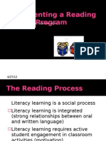 Implementing a Reading Program