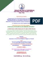 FBU Invitación a Conferencia