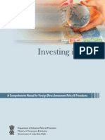 Manual for FDI in India