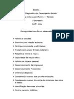 RELATORIO INDIVIDUAL DO DESEMPENHO_PROFESSORA LIZA_ 1º BIMESTRE ED INFANTIL