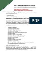 ORGANIZACIÓN DE LA ADMINISTRACION PUBLICA FEDERAL