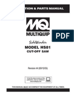Saws High Speed Cut Off HS81 Rev 4 Manual