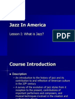 Lesson 1 - What is Jazz