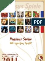 Pegasus Spiele Neuheitenkatalog Herbst / Winter 2011