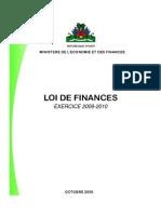 HAITI - Loi de Finances Exercice 2009-2010 (Budget)
