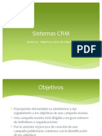 Uninter - CRM - Sesión 19 - Objetivos Listas de Objetivos