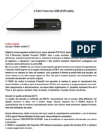 TELESYSTEM TS6291 Decoder Digitale Terrestre Con Porta Usb Twin Tuner