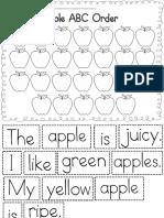 Apple ABC Order Sheet