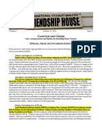 Chapter & Verse Newsletter for Friendship House MSU instructors