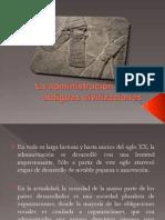 Administacion en Las Antiguas Civilizaciones