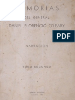 Memorias del general Daniel Florencio O'LEARY