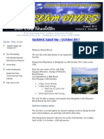 Dream Divers August 2011 Dive Club Newsletter