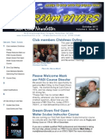 Dream Divers October 2011 Dive Club Newsletter