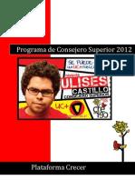 Programa Consejero Superior Crecer 2012