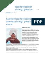 La enfermedad periodontal aumenta el riesgo global de cáncer.docx tarea perio