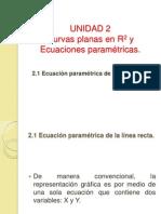 2.1 Ecuación paramétrica de la línea recta