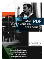 Struggling With ISO, QA and Project Management Issues-Admerix