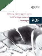 VCT Addressing Violence