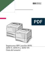 Manual de Impresora HP 4050