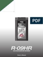 Edirol R-09HR Manual