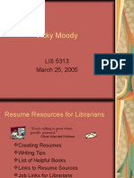 Resume Resources for Librarians