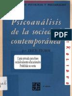Erich Fromm - Psicoanálisis de la Sociedad Contemporánea