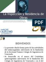 La Inspección y Residencia de Obras