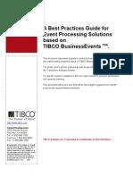 TIBCO BE Sol Best Practices v0.4