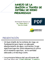 Manejo de Fertirrigacion - Ing. Claudia Gomez
