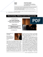 Value Partners - Making It Work in China and Asia 20101021