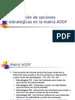 Diapositivas sobre matriz FODA y estrategias genericas