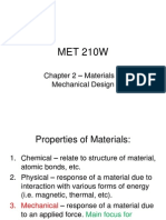 Mechanical Design-material Properties