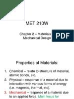 Mechanical Design-material Properties