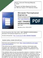 Heat Transfer in Micro Channels
