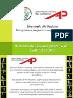 Patenty_13.10.2011 Kochanska_Bioenergia
