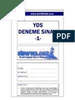 dilFORUM YDS Denemesi 1