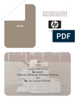 HP Laserjet 9500 ADF Assembly Service Manual Toc